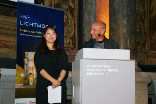 Der Sonderpreis der Jury ging an Manyu Zhou (AdBK München) für die Leuchte »APSARA«. Das Preisgeld beträgt 300,- Euro und wurde gesponsert von Occhio