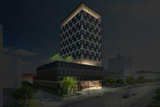 Visualisierung: Reiß & Co. / Nachtansicht Tropp Lighting Design