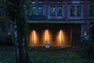 Der Pflaum Park wird illuminiert. Foto: Maik Kern